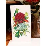 Waratah Greeting Card